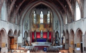 a view of the nave and chancewl