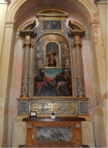 a view of the restored side chapel