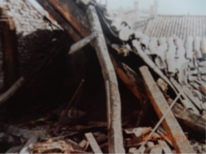exterior church roof damage